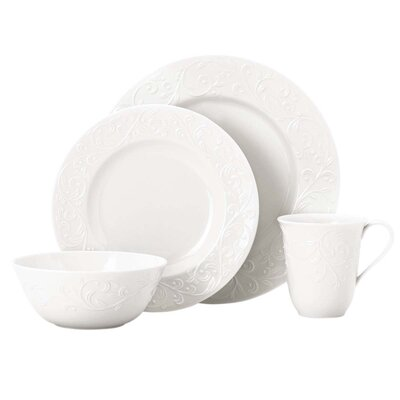 Opal Innocence Carved 4 Piece Place Setting by Lenox