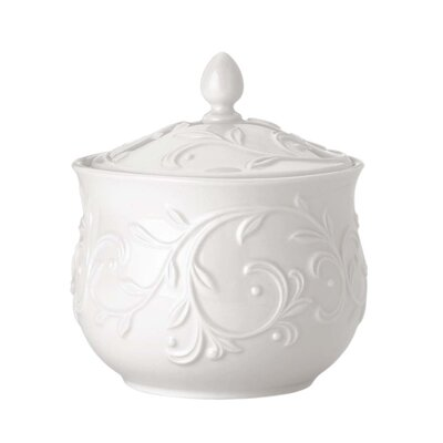 Lenox Opal Innocence Carved Sugar Bowl with Lid