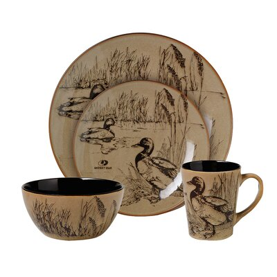 Mossy Oak Breakup Infinity Dinnerware  sc 1 st  Everything Log Homes & Woodlands Wildlife Whitetail Dinnerware - Everything Log Homes