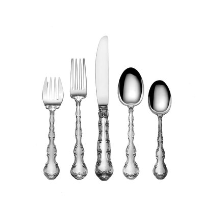 Sterling Silver Strasbourg 5 Piece Flatware Set by Gorham
