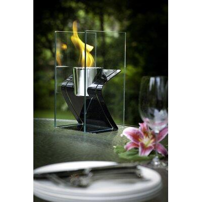 Decorpro Zed Steel Bio Ethanol Tabletop Fireplace