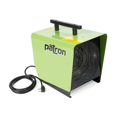 Patron E-Series 3,000 Watt Portable Electric Fan Utility Heater