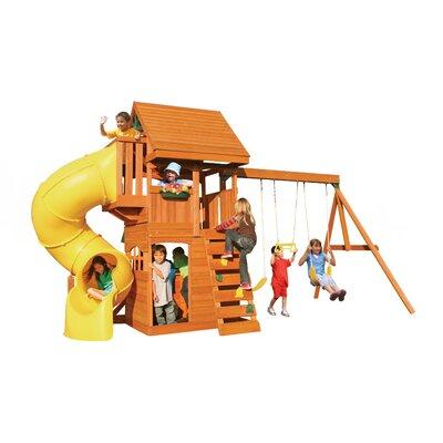Cedar Summit Grandview Deluxe Wooden Swing Set by Big Backyard
