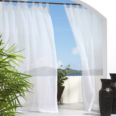 Outdoor Décor Escape Outdoor Hook & Loop Top Single Curtain Panel Product Photo
