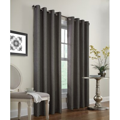 Faux Jute Curtain Panel Product Photo