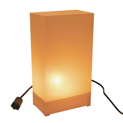 "Luminarias 10.5"" H Electric Luminary Kit Table Lamp with Rectangular Shade"