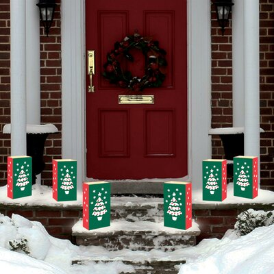 Luminarias Christmas 12 Count Tree Candle Luminaria Kit