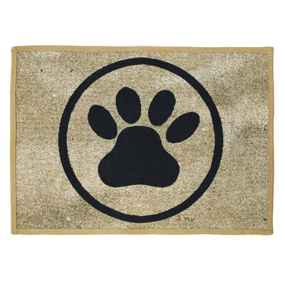 PB Paws & Co. Gold Tapestry Indoor/Outdoor Area Rug by Park B Smith Ltd