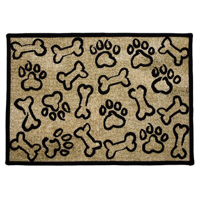 PB Paws & Co. Gold Puppy Paws Tapestry Indoor/Outdoor Area Rug by Park B Smith ...