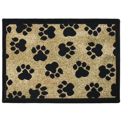 PB Paws & Co. Gold World Paws Tapestry Indoor/Outdoor Area Rug by Park B Smith ...