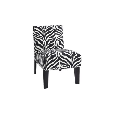 DHI Deco Zebra Slipper Chair in Black