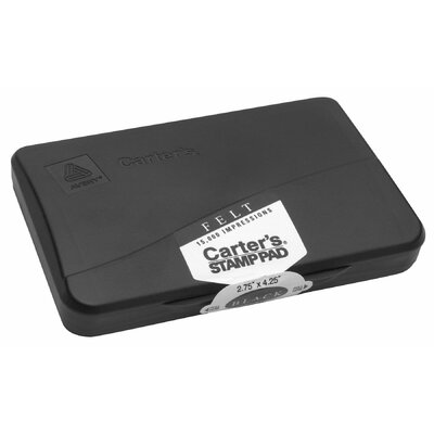 "Avery 2.75"" x 4.25"" Carter's Stamp Pad in Black"