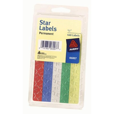 "Avery 5/8"" Colored Star Label"