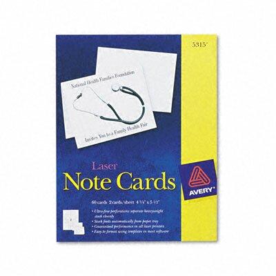 Avery Printer Compatible Cards, 2/Sheet, 60/Box