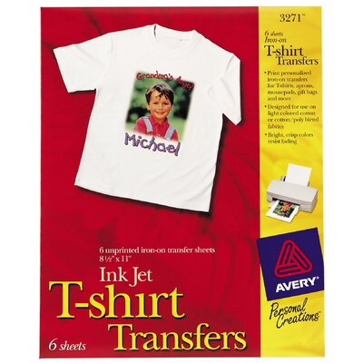ink jet iron on dark t shirt transfer 5 count wayfair supply