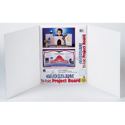 """CPPInternational 14"""" x 22"""" White Project Board with Ghostline"""