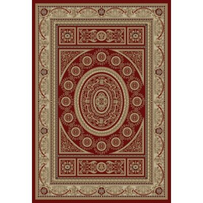 Concord Global Imports Gem Aubusson Red Area Rug