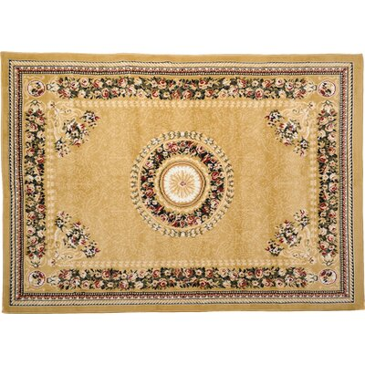 Ariana 3 Piece Gold Area Rug Set by Home Dynamix