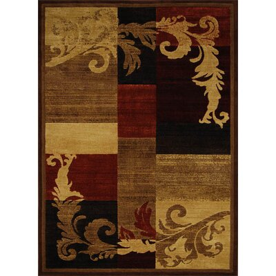 Home Dynamix Catalina Light Brown & Red Area Rug