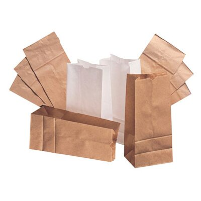 General 10 Paper Bag in White with 500 Per Bundle