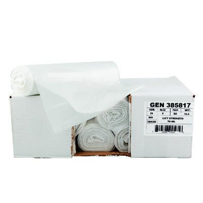 "General 40"" x 46"" High-Density Can Liner with 16 Micron Equivalent in Clear"