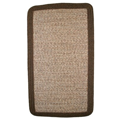 Town Crier Brown Heather with Brown Solids Indoor/Outdoor Rug by Thorndike Mills