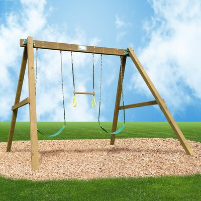 Classic Swing Set with Swing Beam and Chained Accessories Product Photo