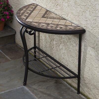 Alfresco Home Basilica Mosaic Outdoor Console Table