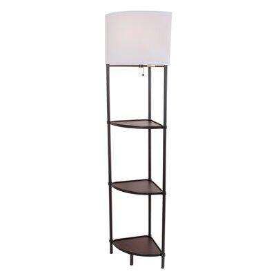 normandelighting shelf floor lamp reviews wayfair supply. Black Bedroom Furniture Sets. Home Design Ideas
