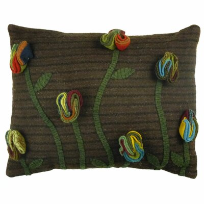 Primitive Poppy Handcrafted Lumbar Pillow by Homespice Decor