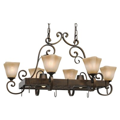 Portsmouth Chandelier Pot Rack with 8 Light by Wildon Home ®
