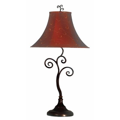 """Wildon Home ® Richardson 30"""" H Table Lamp with Bell Shade"""