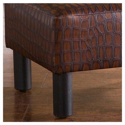 Wildon Home ® Thomas Ottoman/Foot Stool in Faux Alligator