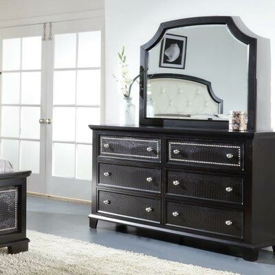 Metro 6 Drawer Dresser with Mirror by Wildon Home ®