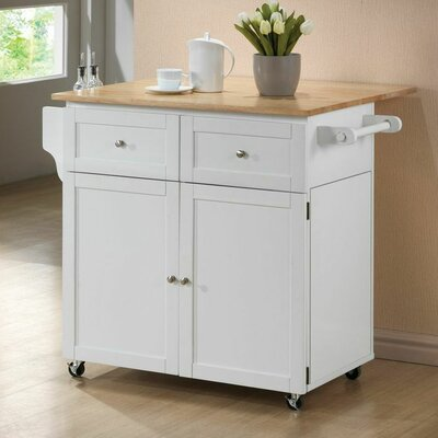 Carol Kitchen Cart with Butcher Block Top Product Photo