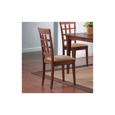 Crawford Wheat Back Chair in Walnut by Wildon Home ®
