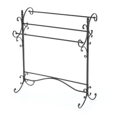 Wildon Home ® Permalloy Iron Scroll Quilt Rack