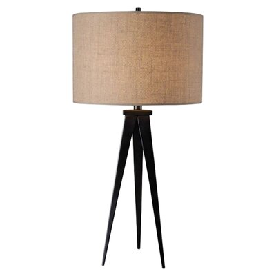 "Wildon Home ® Foster 29"" H Table Lamp with Drum Shade"