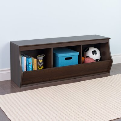 Wildon Home ? Stackable 3 Bin Storage Cubby Storage Cubby