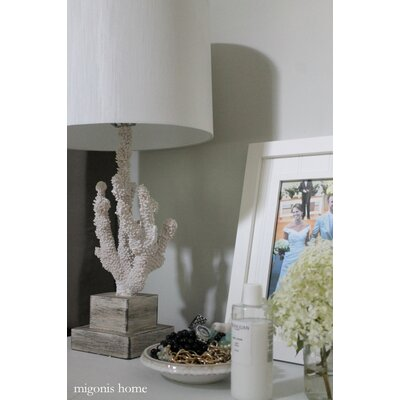 """Wildon Home ® Coral 28"""" H Table Lamp with Drum Shade"""