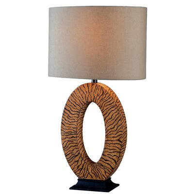 """Wildon Home ® Burl 26"""" H Table Lamp with Drum Shade"""