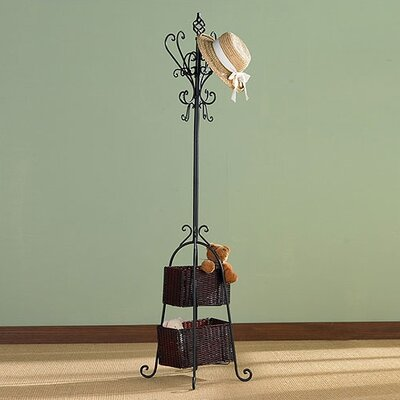 Wildon Home ® Melbourne Magestic Coat Rack with Storage in Black