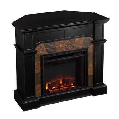 electric fireplace portable heater corner flat screen tv console stand black new ebay. Black Bedroom Furniture Sets. Home Design Ideas