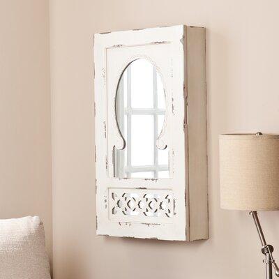Davida Shabby Elegance Wall Mounted Jewelry Armoire with Mirror by Wildon Home ®