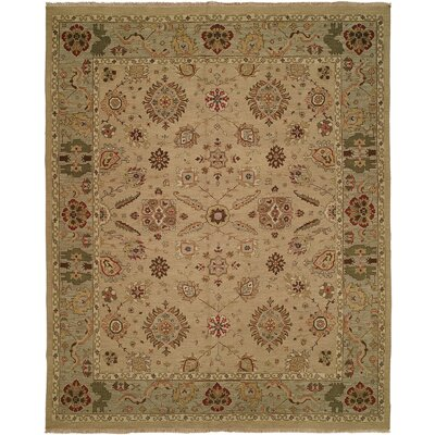 Ivory / Light Green Rug by Wildon Home ®