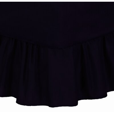 Solid Color Muslin Bedskirt in Black by Wildon Home ®