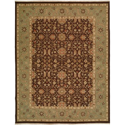 Sierra Hand-Knotted Brown / Aqua Rug by Wildon Home ®