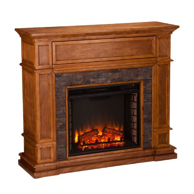 Gaines Simulated Stone Media Center Electric Fireplace by Wildon Home ®