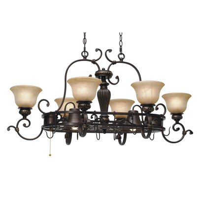 Cartleton Chandelier Pot Rack with 8 Light by Wildon Home ®