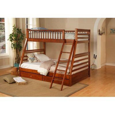 Wildon Home ® Dillard Twin over Full Bunk Bed with Storage